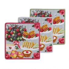 "Feiler Set of 3  ""London Afternoon Tea"" Washcloths"
